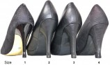 Heel tips and shoe heel protectors 4 pairs - All sizes- Black