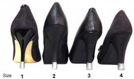 4 pairs - All sizes- Silver Heel tips