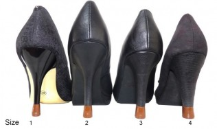 4 pairs - All sizes- Brown Heel tips