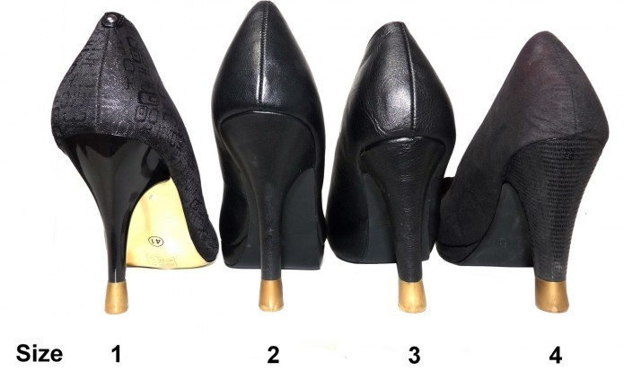 your heel tips 4 pairs - All sizes- Gold