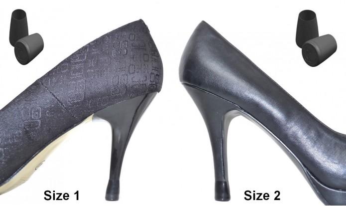 your heel tips 2 PAIRS  - 2 SIZES - BLACK