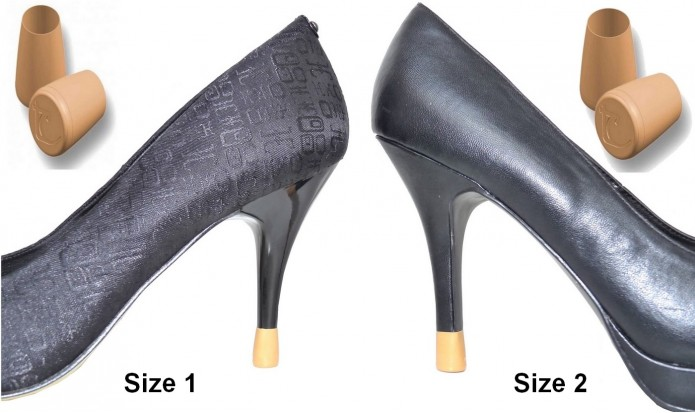 your heel tips 2 PAIRS - 2 SIZES - CAMEL
