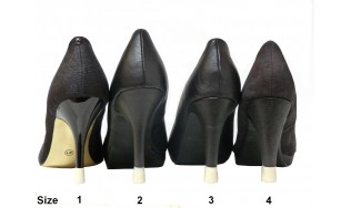 4 pairs- All sizes-Ivory Heel tips