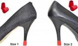 Heel tips and shoe heel protectors 2 PAIRS - 2 SIZES - RED