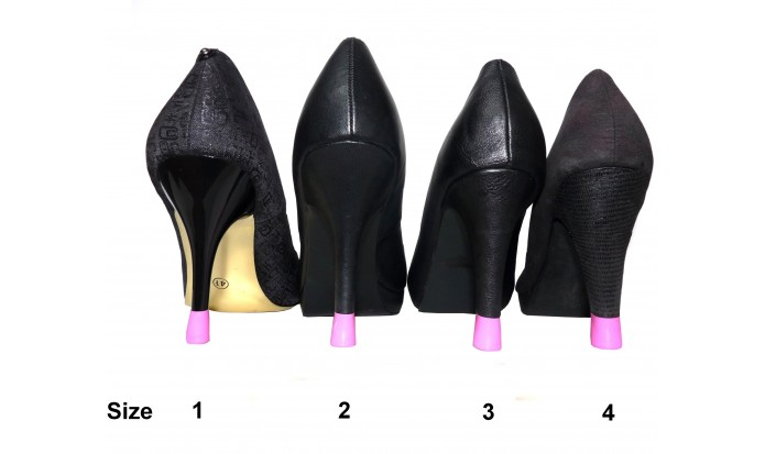 colored stiletto - shoe repair - high heel - worn out heel - kitten heels
