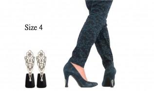 heel replacement - fashion shoe heel protectors - talon chic - design on stiletto - heel cap