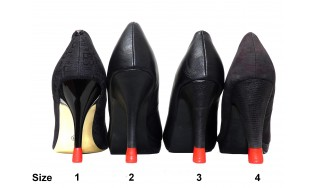 4 pairs- All Sizes-Red Heel tips